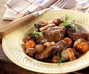 Bourguignon assiette