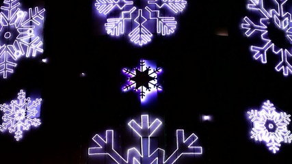 Led Christmas Snowflakes Decorations Detail