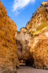 Hole of a big cave, Algarve Portugal