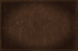 Fototapety Dark brown grunge background from distress leather texture