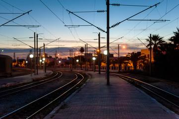 Railways at twilight