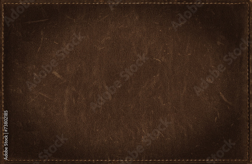 Foto op Canvas Stof Dark brown grunge background from distress leather texture