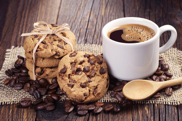 Fototapeta kawa i domowe ciasteczka