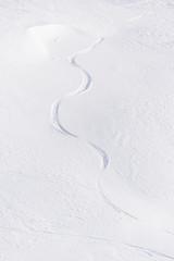 Slalom in neve fresca