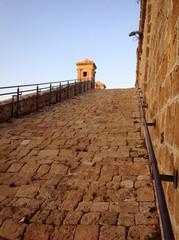 old walls in Akko, Israel