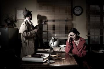 Detective giving bad news