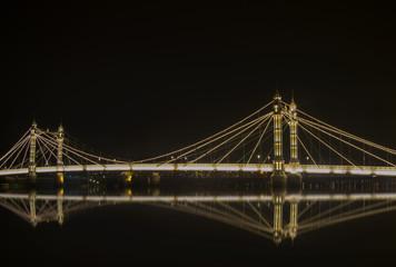 Albert bridge in Chelsea, London.