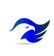 American Eagle Flag logo vector symbol