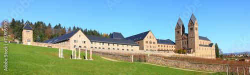 Leinwanddruck Bild Abtei St. Hildegard bei Rüdesheim am Rhein (November 2014)
