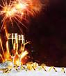Leinwandbild Motiv toast of turn of the year