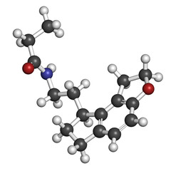 Ramelteon insomnia drug molecule.