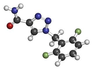 Rufinamide seizures drug molecule.