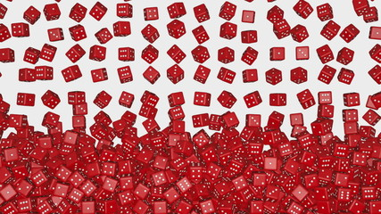 Reds dice falling