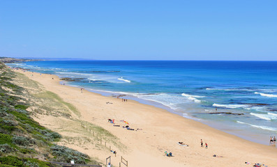 Blue ocean, beach and sky, Portsea, Australia