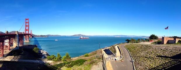 Timess bridge view in San Francisco city