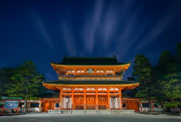 平安神宮 応天門 夜景