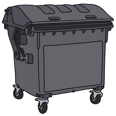 Vector image of hand-drawn garbage container