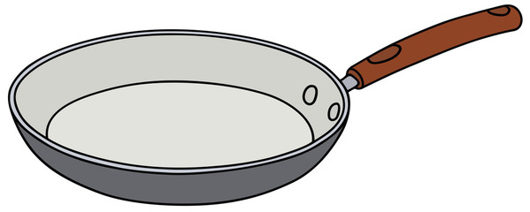 Hand drawing of a ceramic pan - vector illustration