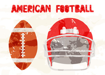 Abstract accessories American Football