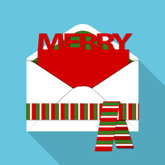 Vector of Christmas mail