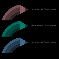 Minimal elements from shape pencil for infographics, business de