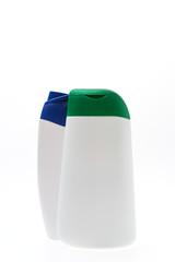 Blank shampoo bottles