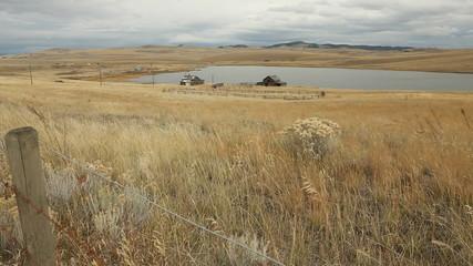 Ranch Grasslands Wind dolly shot
