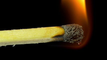 Burning matches in 3840X2160 4K UHD video.
