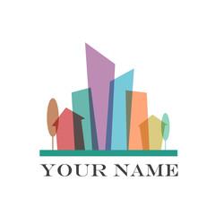 Vector sign flat city