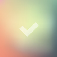 tick icon on blurred background
