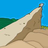 Man Pushing Rocks