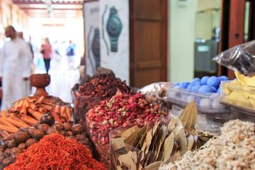 Spices in the spice souk in Dubai