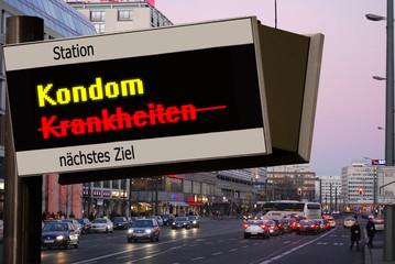 Anzeigetafel 5 - Kondom
