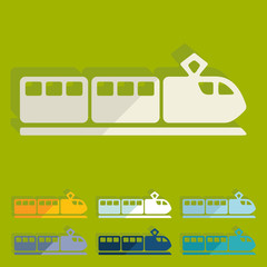 Flat design: train