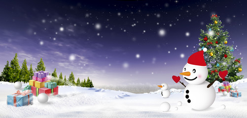 christmas festival illustration image