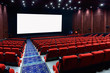 Empty movie theater with red seats - 73813792