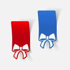 realistic design element: ribbon