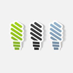 realistic design element: fluorescent light bulb