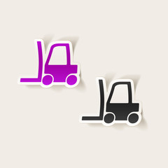 realistic design element: forklift
