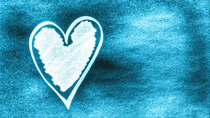 light blue love heart background...