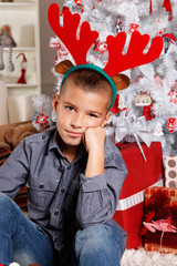 Cute little boy at Christmas