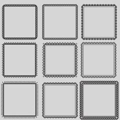 set of frames, mehndi style