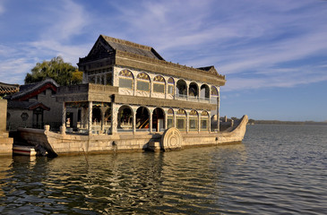 Marble Boat in the Summer Palace in Beijing