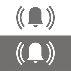 Icono alarma campana BN