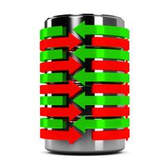Zylinder Pfeile