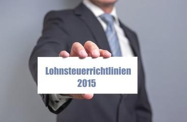 Lohnsteuerrichtlinien 2015