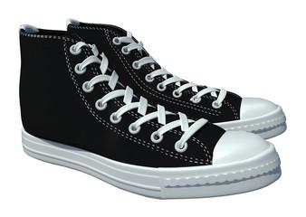 vintage shoes on white background for design. 3d render