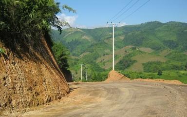 Road To Mountainous Village in Laos