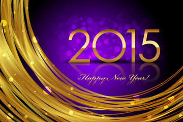 Vector 2015 purple glowing background