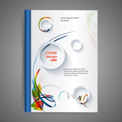 Abstract template book cover